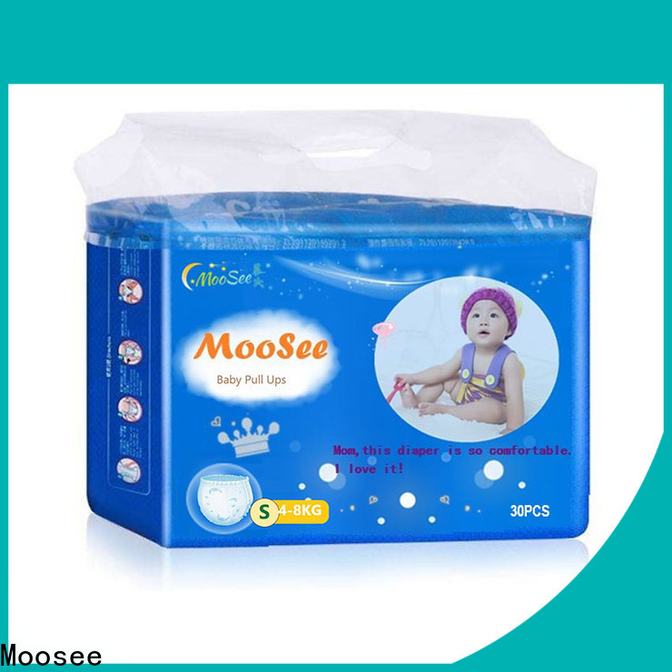 Moosee Custom baby pull ups diapers manufacturers for baby