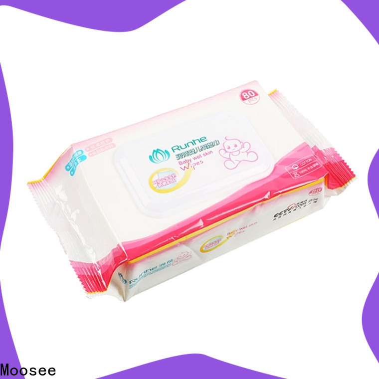 Moosee Custom cotton wet wipes Suppliers for children