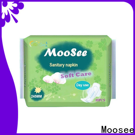 Moosee oem sanitary napkin pad company for lady