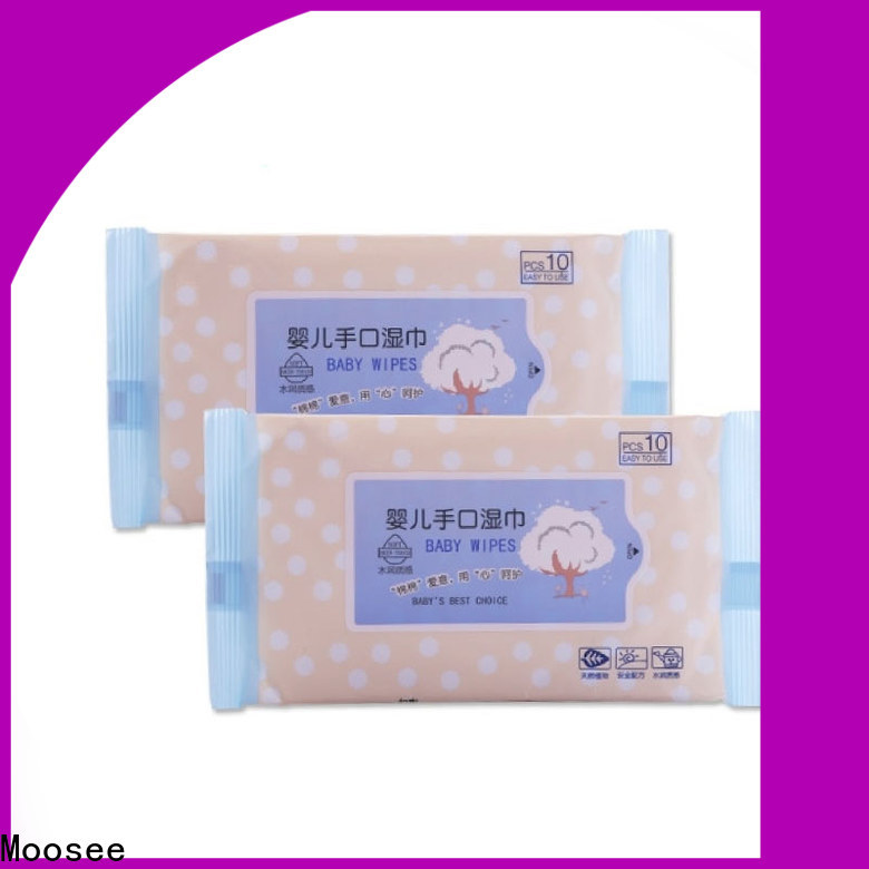 Moosee High-quality cotton wet wipes company for children