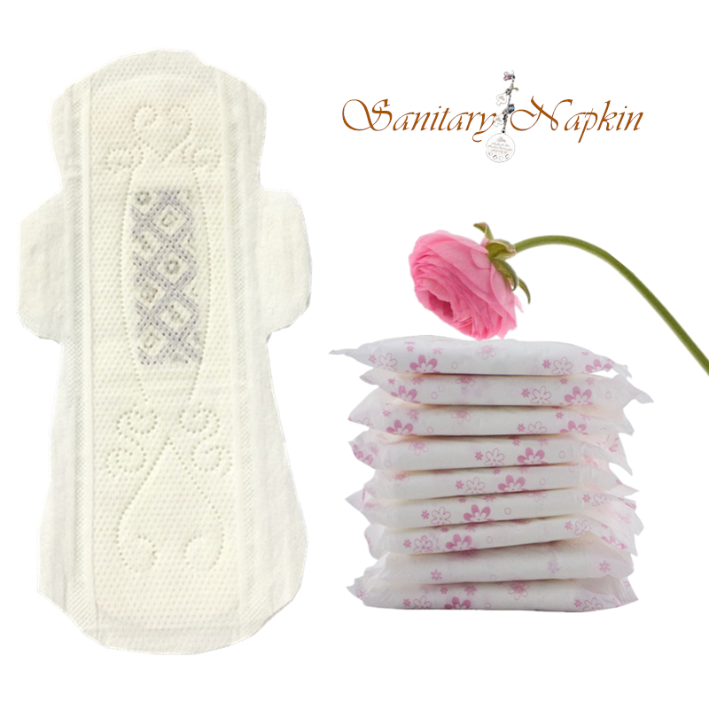 Best Selling Customized Natural Cotton Organic Sanitary Napkin JX-SN1002